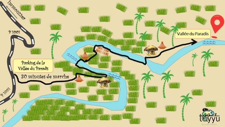vallée du paradis itinéraire